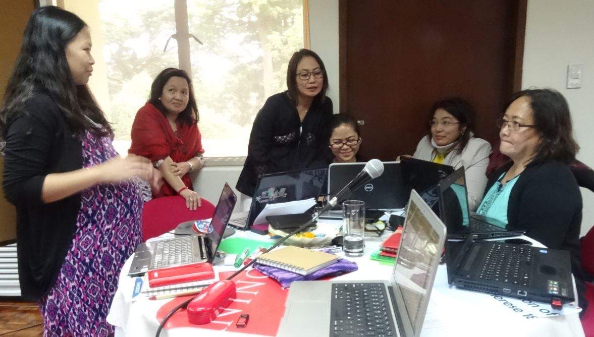 Group working on calamansi livelihood project in Victoria, Or. Mindoro