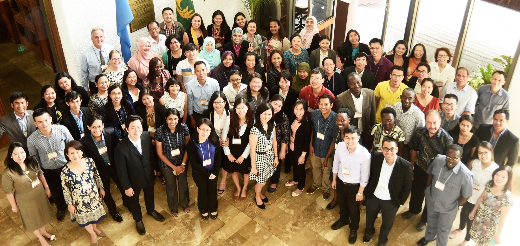 Young Southeast Asian scientists pose with mentors, workshop facilitators, and organizers.