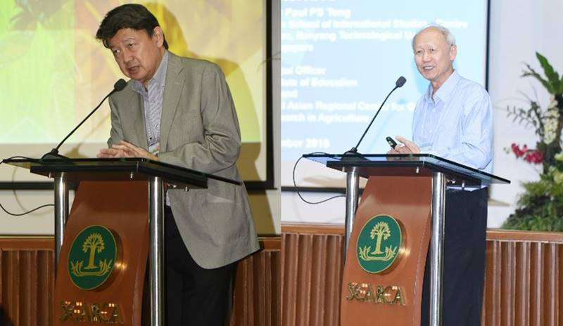 Mr. Henry Lim Bon Liong (left), CEO of SL Agritech, and Dr. Paul S. Teng (right), Adjunct Senior Fellow, S. Rajaratnam School of International Studies and SEARCA Senior Fellow, serve as discussants.