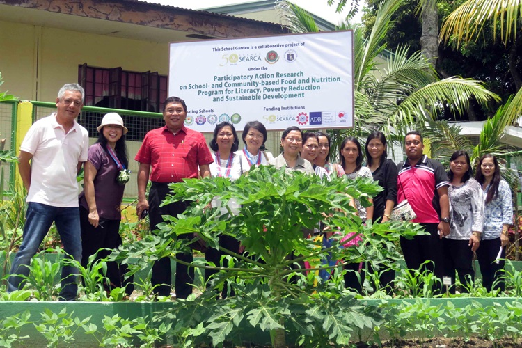 school and home gardens as learning sites and source of nutritious food and income launches in laguna philippines 7