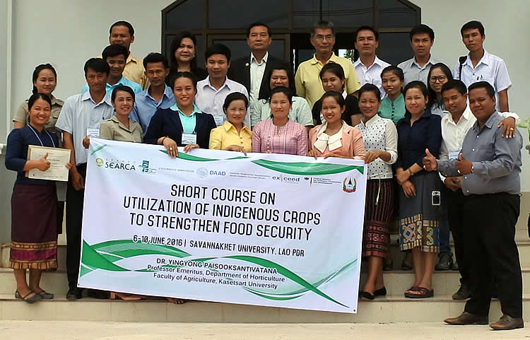 26 participate in a short course on utilization of indigenous crops to strengthen food security