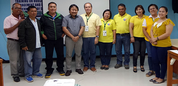 FGD participants at DA-RFO 7 included Ms. Doris Capuno, Mr. Roberto Nomenzo, Mr. Virgilio Abobo, Mr. Joaquin Polestico, Jr., Dr. Maylyn Majaduson, Mr. Fabio G. Enriquez, and Ms. Kathrtyn Ilanan. SEARCA Project Team was represented by Dr. Victor Rodulfo, Jr., Research Specialist, and Ms. Maylyn G. Desamparo, Project Assistant.