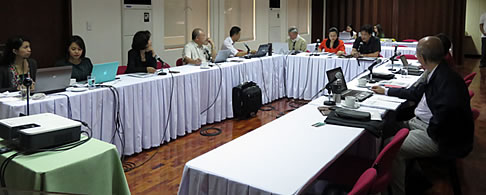 Dr. Habito, Lead Editor and Technical Coordinator of the ARD Book, facilitating the workshop discussion for comments, recommendations and suggestions.