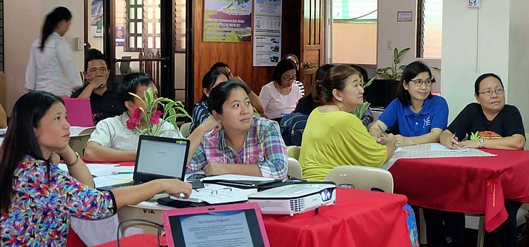 "PCC Officials and staff together with the Regional Lead Knowledge Products Writers during the ""Training of Trainers in Writing Effective Knowledge Products"" held on 18 – 21 April 2016 at Basco, Batanes."