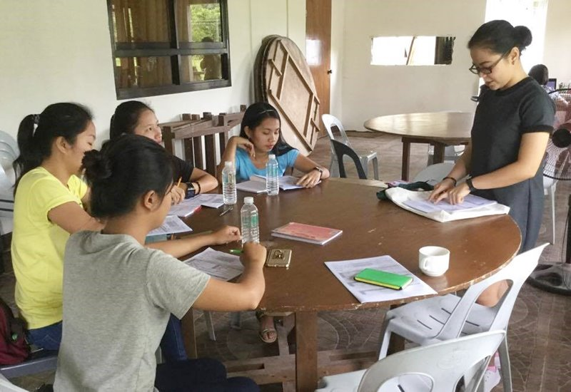 Training of enumerators for the farm and household survey