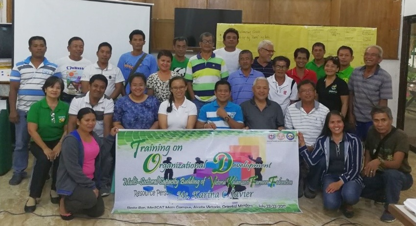 organizational development training to strengthen federation of calamansi farmers