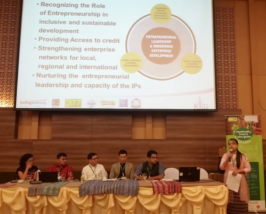 Dr. Win presents her paper entitled 'Promoting Productivity, Technology, and Innovation: Examples of Successful Community Forestry-based Enterprises in Myanmar.'