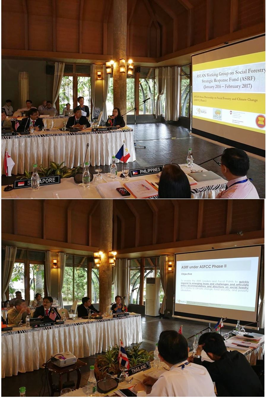 Presentation of SEARCA-ASRF Program  Management Team during the 11th AWG-SF Annual Meeting in Chiang Mai,Thailand.