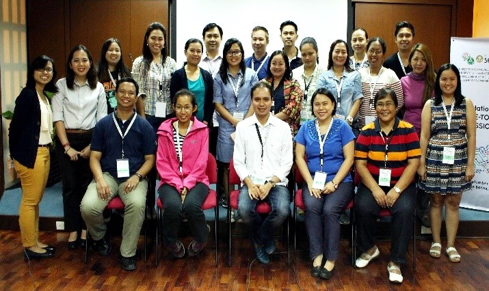 The participants with the SEARCA Project Team led by Prof. Llarena, Project Leader, and Ms. Julia A. Lapitan, Head of the DA-BAR Applied Communication Division.