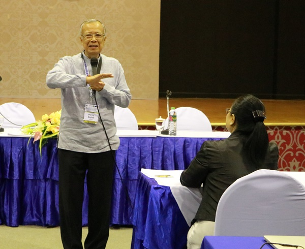 Dr. Percy E. Sajise, SEARCA Senior Fellow, delivers the Keynote Message at the Regional Workshop on Agrobiodiversity.