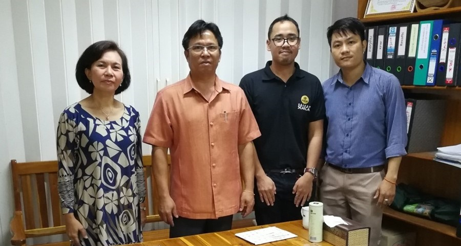 SEARCA-ASRF represented by Ms. Carmen Nyhria Rogel, Program Specialist and Mr. Xyrus Capiña, Project Associate, paid a visit to the Village Forest and Non Timber Product Management Division of the Department of Forestry headed by Dr. Oupakone Alounsavath, AWG-SF Leader.