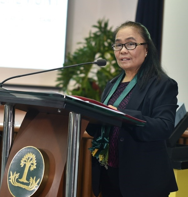Ms. Digna L. Sandoval, DA-BAR Assistant Director, delivered the Opening Message of Dr. Nicomedes P. Eleazar, DA-BAR Executive Director.