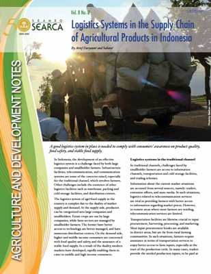 Logistics Systems in the Supply Chain