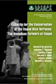 Capacity for the Conservation of the Ifugao Rice Terraces: The Hungduan Farmers of Ifugao