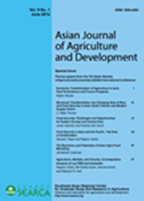 Asian Journal of Agriculture and Development Vol. 9 No. 1
