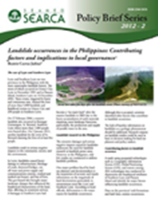 Landslide Occurences in the Philippines: Contributing Factors and Implications to Local Governance