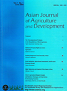 Asian Journal of Agriculture and Development Vol. 1 No. 1