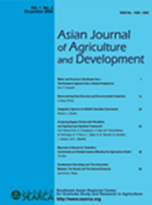 Asian Journal of Agriculture and Development Vol. 1 No. 2