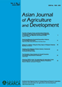 Asian Journal of Agriculture and Development Vol. 4 No. 1