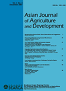 Asian Journal of Agriculture and Development Vol. 4 No. 2