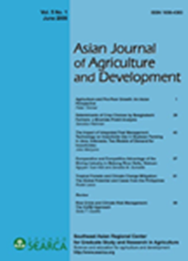 Asian Journal of Agriculture and Development Vol. 5 No. 1