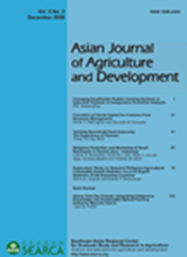 Asian Journal of Agriculture and Development Vol. 5 No. 2