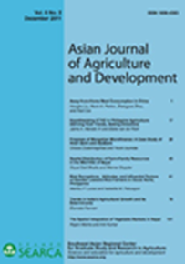 Asian Journal of Agriculture and Development Vol. 8 No. 2