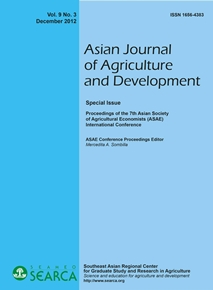Asian Journal of Agriculture and Development Vol. 9 No. 3