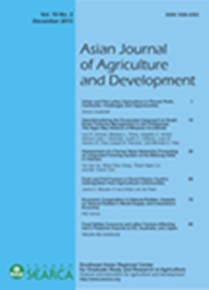 Asian Journal of Agriculture and Development Vol. 10 No. 2