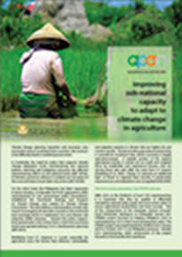 Improving Sub-national Capacity to Adapt to Climate Change in Agriculture