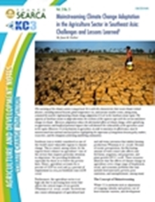 Mainstreaming Climate Change Adaptation in the Agriculture Sector in Southeast Asia: Challenges and Lessons Learned