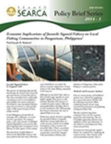 Economic Implications of Juvenile Siganid Fishery on Local Fishing Communities in Pangasinan, Philippines