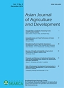 Asian Journal of Agriculture and Development Vol. 11 No. 2
