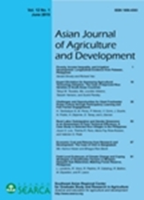 Asian Journal of Agriculture and Development Vol. 12 No. 1