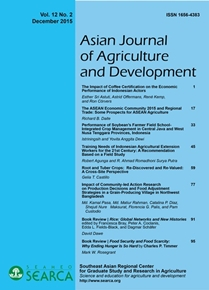 Asian Journal of Agriculture and Development Vol. 12 No. 2