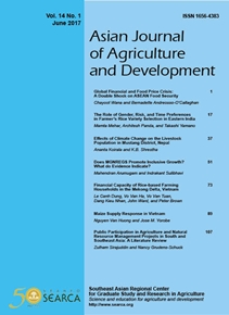 Asian Journal of Agriculture and Development Vol. 14 No. 1