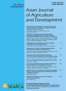 Asian Journal of Agriculture and Development Vol. 14 No. 2