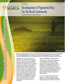Development of Pigmented Rice for the Rural Community