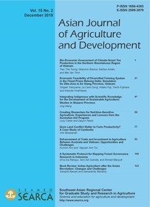 Asian Journal of Agriculture and Development Vol. 15 Issue No. 2