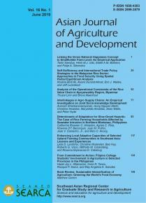 Asian Journal of Agriculture and Development Vol. 16 No. 1