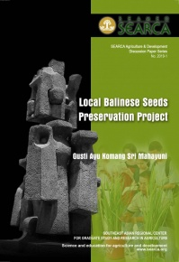 Local Balinese Seeds Preservation Project