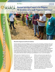 Municipal Agricultural Support in the Philippines:  Has Devolution Led to Locally Responsive Performance?
