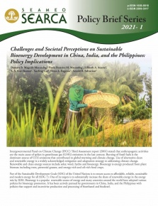 Challenges and Societal Perceptions on Sustainable Bioenergy Development in China, India, and the Philippines: Policy Implications