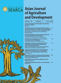 Asian Journal of Agriculture and Development Vol. 18 No. 1 (June 2021 issue)