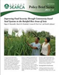 Improving Food Security Through Community-based Seed Systems in the Rainfed Rice Areas of Asia