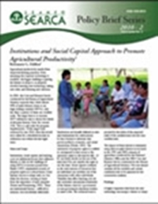 Institutions and Social Capital Approach to Promote Agricultural Productivity