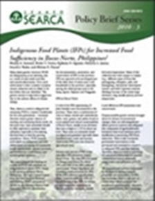 Indigenous Food Plants (IFPs) for Increased Food Sufficiency in Ilocos Norte, Philippines