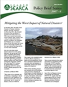 (6) Mitigating the Worst Impact of Natural Disasters