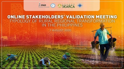 SEARCA RRT Project Team to present and validate results of rural regional transformation typology in the Philippines through a series of stakeholders' validation meetings