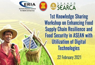 SEARCA to hold Knowledge Sharing Workshop on Digital Technologies in the Agricultural Sector with ASEAN